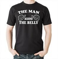 The Man Behind The Belly T-shirt Dad Maternity Gift For Dad Tee Shirt