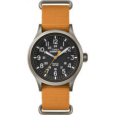 "Timex TW4B04600, Men's ""Expedition"" Orange Nylon Watch, Scout, TW4B046009J"