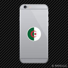 Round Algerian Flag Cell Phone Sticker Mobile Algeria DZA DZ