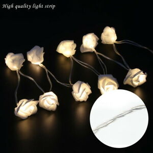 20 LEDs Rose Flower LED String Fairy Lights Decor for Party Christmas Garden