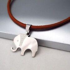 Modeschmuck-Halsketten & -Anhänger für Damen mit Edelstahl-Elefanten