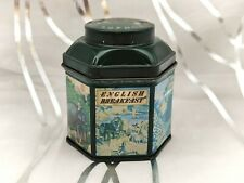 More details for crabtree & evelyn english breakfast tea-small vintage tin/caddy-indian scenes