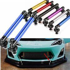 2X Bumper Protector Lip Rod Splitter Strut Tie Bar Support Front Rear Universal