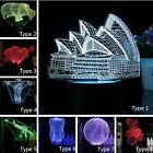 3D Art Bed Night Light Animal LED Table Desk Lamp 7 Color Valentine's Day Gift