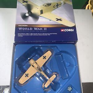 Corgi 1/72 Scale AA34304 - Focke Wulf Fw 190A-4 Black Double Chevron 1942