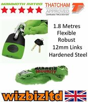 Bike-It Mammoth Motorcycle Thatcham Approved Lock And Chain - 1.8 Metre LOM003
