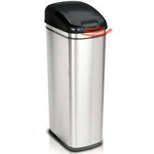 60L de cuisine en acier inoxydable déchets capteur bin silencieux près noir sans contact couvercle bn