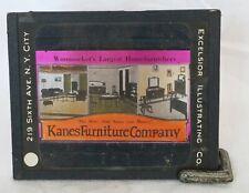 """KANES FURNITURE COMPANY"" MAGIC LANTERN SLIDE -EXCELSIOR ILLUSTRATING Co. NY"