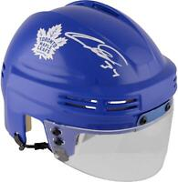 Auston Matthews Maple Leafs Signed Blue Mini Helmet - Fanatics