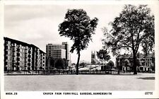 Hammersmith. Church from Furnivall Gardens # HMSH.29 by Frith. Flats.