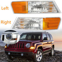 2Pk Front Left+Right Parking Turn Signal Light Lamp For Jeep Patriot Replacement