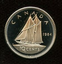 1984 Canada 10 cents Proof Dime Coin from Mint Set UHCameo