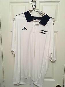 Adidas Akron football Team Short Sleeve Shirt  -Golf Shirt- 2XL -Boca Raton Bowl