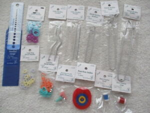 KNITTING ACCESSORIES - Row Counters, Point Protectors, Cable Needles & many more