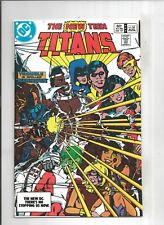 NEW TEEN TITANS #34 Deathstroke Cover by GEORGE PEREZ, 9.2 NM-, DC