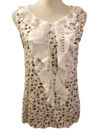 NEW De Collection from Stitch Fix Womens Sleeveless Ruffle Floral Top Medium