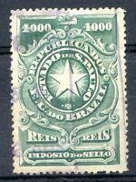 BRAZIL, 1000 REIS, Old Revenue, Used