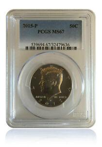 PCGS MS67 2015 P Kennedy Half Dollar 50C Gem Uncirculated