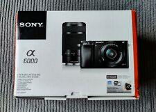 Sony Alpha A6000 24.3MP Digital Camera - Black (Kit with 16-50mm & 55-210mm Zoo…