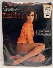 "Vintage New Chérie ""Little Prune� Panty Hose Nude Heel 'Cinnamon' B 100% Nylon"