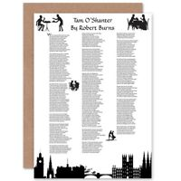 Robert Burns Poem Lyrics Tam O'Shanter Scotland Blank Greeting Card