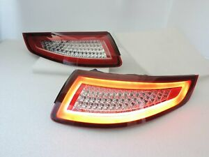 LED Tail Rear Light RED/CLEAR for PORSCHE 2005 06 07 08 CARRERA 911 997 GT2 GT3