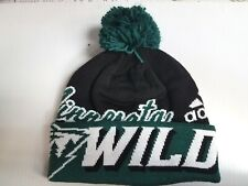 Minnesota Wild Knit Hat Adidas Cuffed Pom Beanie Stocking Cap NHL