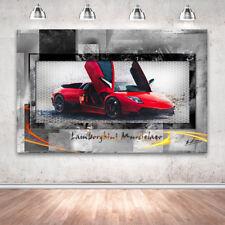 Lamborghini Murcielago Auto Sportwagen Wandbilder Bilder Leinwand Abstrakt 2260A