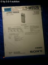 Sony Service Manual ICD MS525 IC Recorder (#5327)