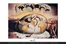 Geopoliticus Child Salvador Dali Poster Birth of a New man Surrealist Strange