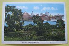 Vintage Postcard ~ A Glimpse of Montreal Harbour Quebec Canada