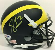 SHEA PATTERSON SIGNED AUTOGRAPHED MICHIGAN WOLVERINES FOOTBALL HELMET PSA/DNA