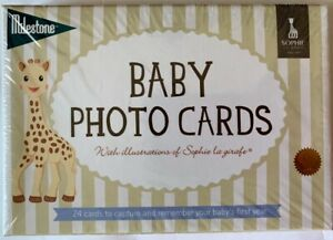 New Milestone Baby Photo Cards Sophie the Giraffe 24 Cards