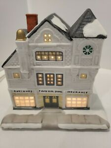 Christmas Village Hawthorn Porchlight Collection Antique Shop Norman Rockwell