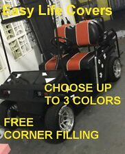EZGO TXT -RXV GOLF CART CUSTOM SEAT COVERS FRONT SEAT STAPLE ON DIY #60 I.W.