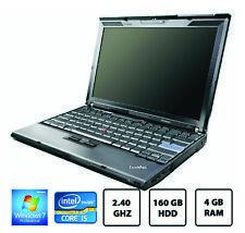 Lenovo thinkpad x201 laptop Core i5 M 520 2.40GHz 4GB 160GB wifi 7 PRO 64-bit