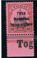GERMAN COLONIES TOGO OVERPRINT 80 pf  MNH  SIGNED BBP