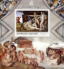 Gabon 2016 MNH Michelangelo 1v S/S Art Paintings Stamps