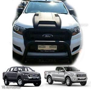 Matte Black Hood Scoop Bonnet Cover Fits Wildtrak Ford Ranger Mk2 Px2 2015 2017