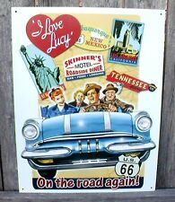 I Love Lucy Sign On The Road Again Us66 New Nostalgic Metal Collectib 12 1/2x16