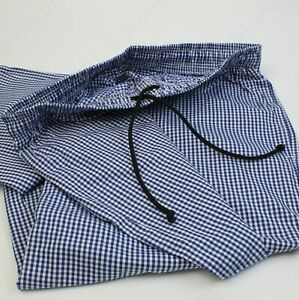 Super High Quality Chef White and Blue Check Trousers. 100% Cotton Kitchen Wear