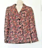 Vintage Designer Floral Jacket 1960's by Femminella Size 10 (mm)