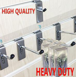 "Slatwall Hook Pin Arm Shop Display Fitting Prong 2"" 4"" 6"" 8"" 10"" 12"" HEAVY DUTY"