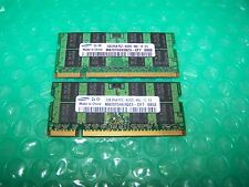 4GB Samsung (2x 2GB pair) DDR2  PC2-6400s 800MHz Laptop Memory modules