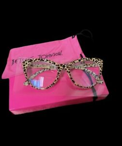 NIB Betsey Johnson Blue Light  Blocking Glasses Leopard +0.00 +1.50 +2.00 +2.50
