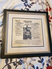 Bonnie And Clyde 1934 FBI Wanted ORIGINAL Poster Professionally Framed Gangster