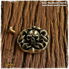Boka Baratheon Skull Brass Concho, Coin,Wallet, Belt, Biker, Snap, Trucker, Bags