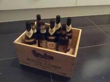 9 x Genuine Francese in legno vino gabbie Scatole natale ostacolare / cassetti di stoccaggio