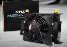 """25 ROW 10AN RACING ENGINE OIL COOLER + 7"""" FIXED FAN FOR HONDA CIVIC EF9 D15 D16"""