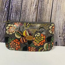 Fossil Makeup Canvas Cosmetic Floral Print Zip Clutch Pouch